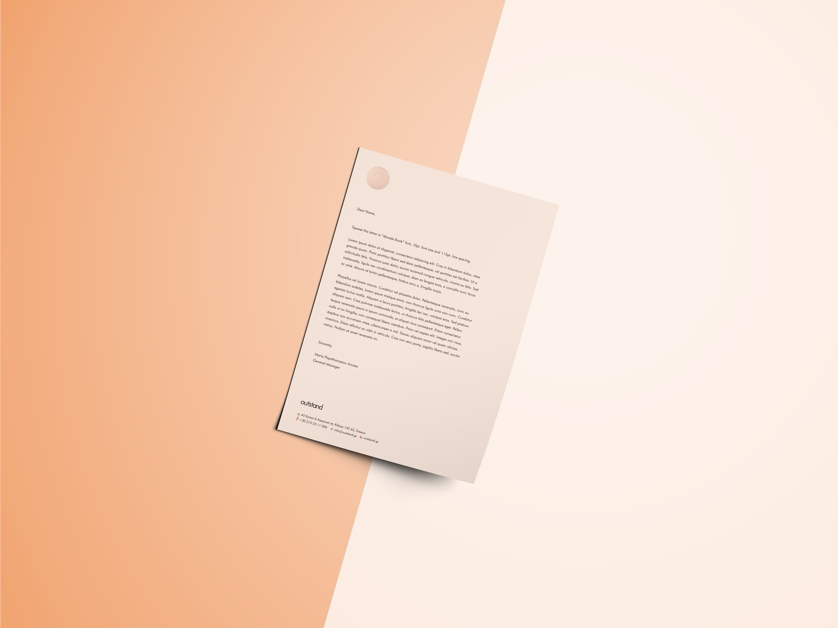 Outstand Bespoke Communications - Letterhead